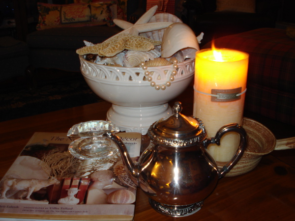 Candle and shells