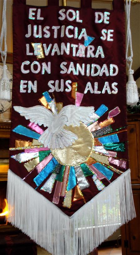 B healing banner spanish