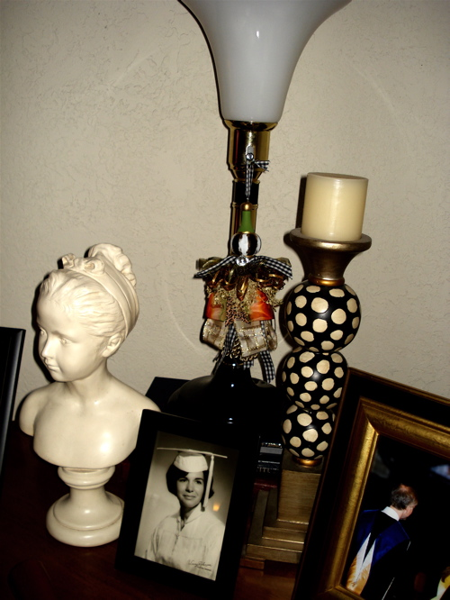 A tassel lamp