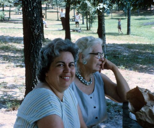A mom and Grandma white